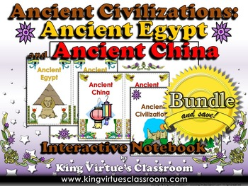 Ancient Egypt and China Interactive Notebook BUNDLE - Anci