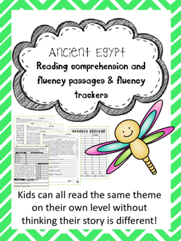 Ancient Egypt fluency and comprehension leveled passages