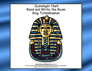 Ancient Egyptian History-King Tut-Scavenger Hunt- Read and