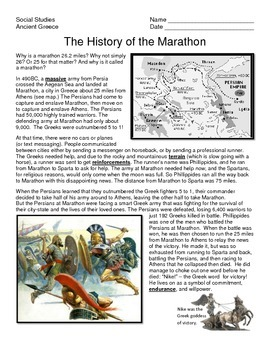 Ancient Greece Battle of Marathon