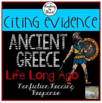 Ancient Greece Citing Evidence Life Long Ago Reading Response