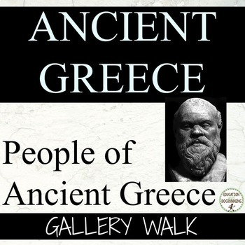 Ancient Greece Gallery Walk Activity for the People of Anc