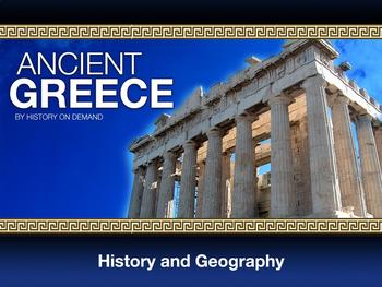 Ancient Greece PowerPoint with Guided Outline: Geography a