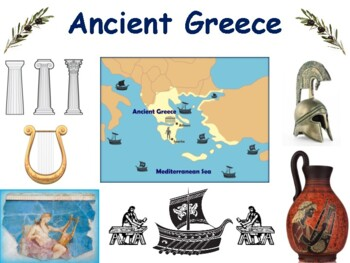 Ancient Greece Lesson/Flaschards task cards classroom unit