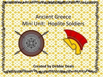Ancient Greece Mini Unit: Hoplite Soldiers
