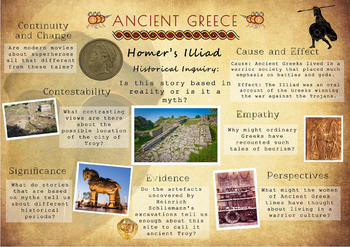 Ancient Greece Poster - Homer's Illiad Historical Inquiry