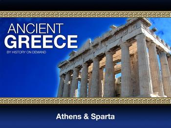 Ancient Greece Sparta and Athens PowerPoint with Guided Outline