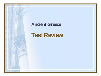 Ancient Greece Test Review Powerpoint
