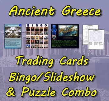 Ancient Greece Trading Cards, Bingo/Slideshow and Puzzle Combo