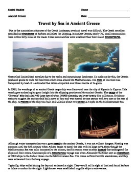 Ancient Greece - Travel by Sea
