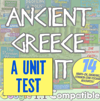 Ancient Greece Test! 38 questions to accompany the unit fr