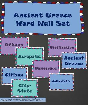 Ancient Greece Word Wall Set