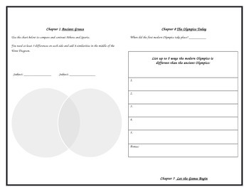 Ancient Greece and the Olympics Fact Tracker Booklet