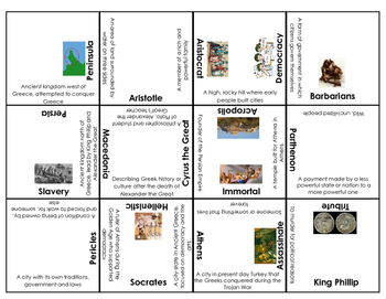 Ancient Greece vocabulary, people and places puzzle (S.S.