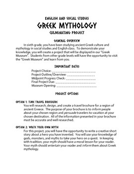 Ancient Greek Culture and Mythology Final Project