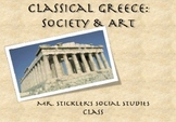 """""""Ancient Greek Life and Art: Statues and Society"""" PowerPoint"""