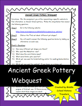 Ancient Greek Pottery Webquest