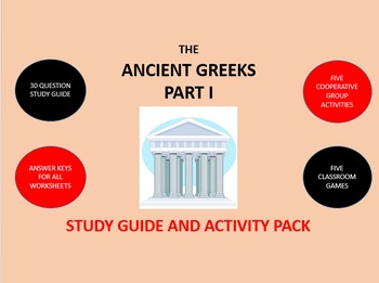 Ancient Greeks Part 1:  Study Guide and Activity Pack