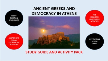 Ancient Greeks and Democracy in Athens: Study Guide and Ac