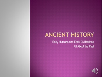 Ancient History All About the Past