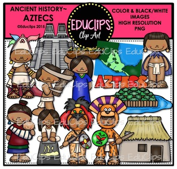 Ancient History - Aztecs Clip Art Bundle
