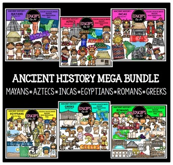 Ancient History Clip Art Mega Bundle {Educlips Clipart}