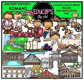 Ancient History - Romans Clip Art Bundle