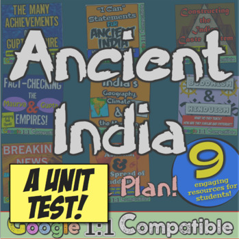 Ancient India Test! 33 questions to accompany India Unit f
