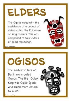 Ancient Kingdom of Benin Fact Cards