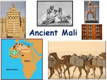Ancient Mali Flashcards - task cards, study guide, state e