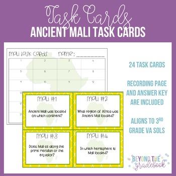 Ancient Mali Task Cards