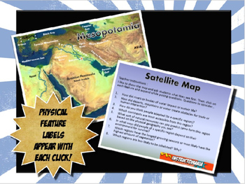 Ancient Mesopotamia Satellite Map Physical Geography Power
