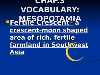 Ancient Mesopotamia Vocabulary Words PowerPoint