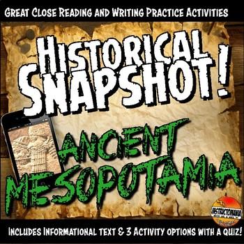 Ancient Mesopotamia Historical Snapshot Close Reading Inve