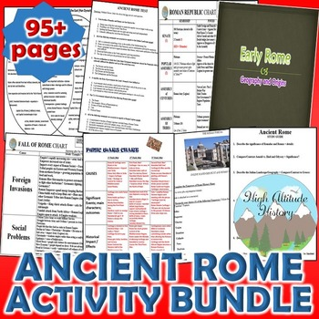 Ancient Rome Activity *Bundle* (World History)