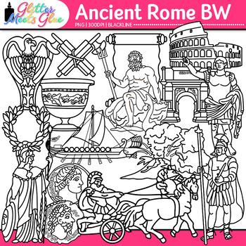 Ancient Rome Clip Art {Civilization and Culture on the Tib