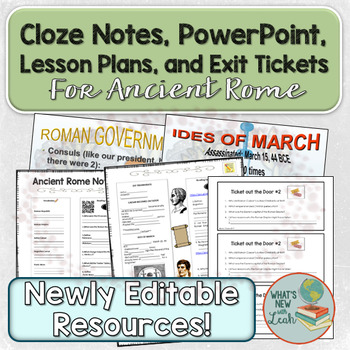 Ancient Rome Cloze Notes and PowerPoint