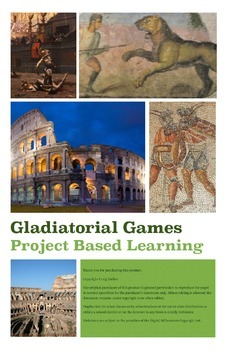 Ancient Rome Gladiator Games Project Based Learning Activity