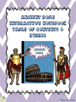 Ancient Rome - Interactive Notebook - Rubric, Grade Log, a