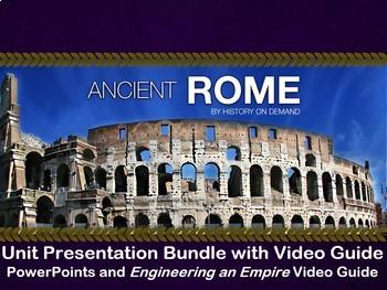 Ancient Rome PowerPoint, Outline, and Video, Super Unit Bundle