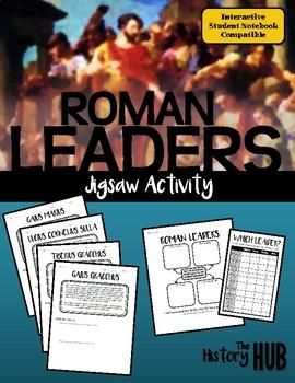 Ancient Rome - Roman Leaders Jigsaw lesson plan