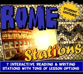 Ancient Rome Stations with Key Questions Graphic Organizer