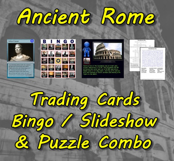 Ancient Rome Trading Cards, Bingo/Slideshow and Puzzle Combo