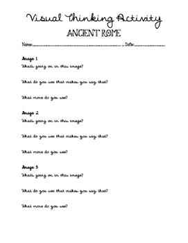 Ancient Rome- Visual Thinking Activity