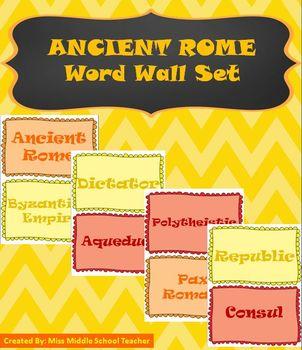 Ancient Rome Word Wall Set