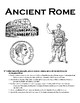 Ancient Rome and Christianity Interactive Notebook