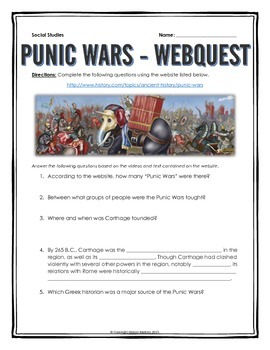 Ancient Rome and the Punic Wars - Webquest and Map Assignm