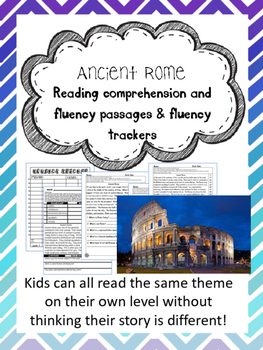 Ancient Rome fluency and comprehension leveled passage