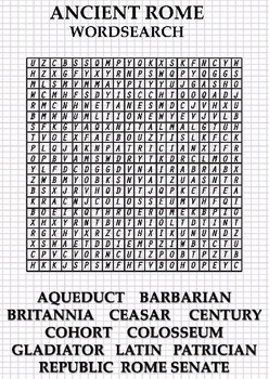 Ancient Rome - wordsearch