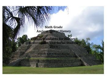 Ancient World History Standards Organizer